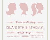 Salon Birthday Invitation for Girls