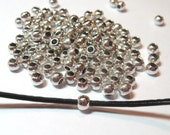 Silver Pewter Spacers 4mm - Qty 50