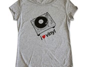 I love / heart Vinyl women's T-shirt