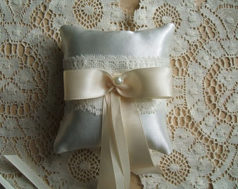 """3"""" Handmade Flowergirl's Ring  Bearer Pillow for Her Flower Girl Basket, If there is no Ring Bearer"""