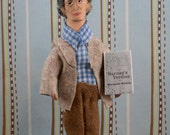 Mordecai Richler Doll Miniature Canadian Author
