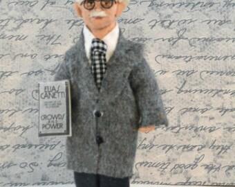 Elias Canetti Author Doll Miniature Nobel Prize Literature Winner