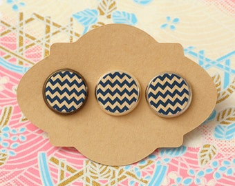 10 pcs handmade blue - earrings, pendant, ring - 12mm (PW-0897E)
