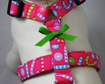 Dog Harness - Cotton Candy Christmas