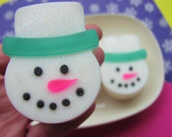 Holiday SNOWMAN Soap. Jack Frost. Stocking Stuffers Kids. Teen Gift, Christmas Decorations, Frosty.Christmas Soap. Party Favors