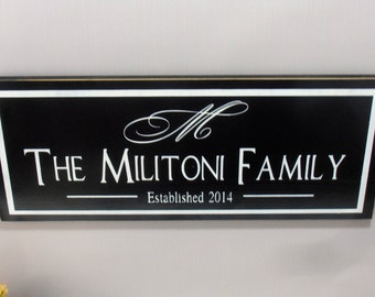 Custom Family Name Wood Sign Plaque Established DESIGN YOUR OWN Personalized family name
