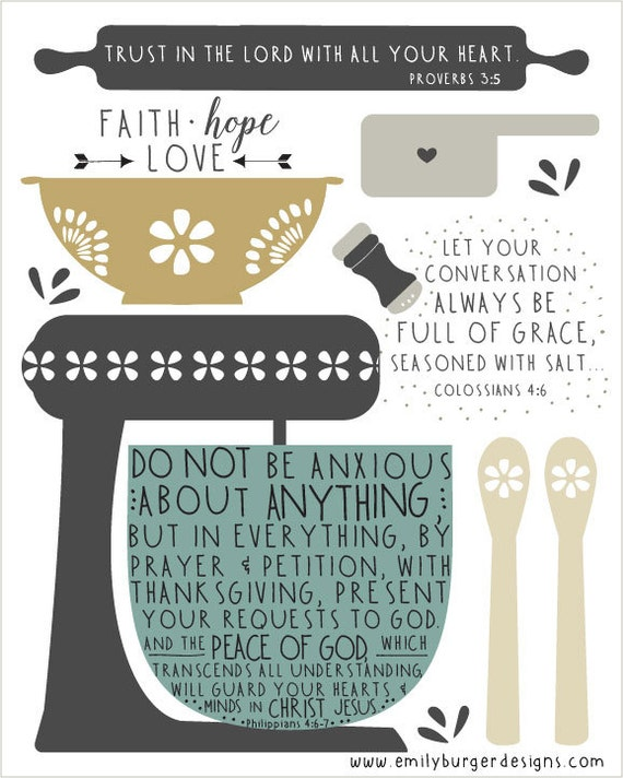 Bible Quotes For The Kitchen: Items Similar To Scripture Reminders For The Kitchen 8 By