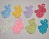 Handmade Crochet Easter Bunny Rabbit Decoration Decor Applique Garland