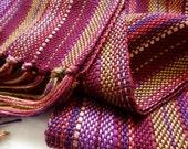 marsala bordeaux handwoven scarf