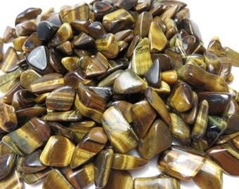 4 Golden Tiger Eye Tumbled Healing Stones Healing Crystals Chakra Reiki Energy lot b