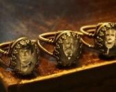 Steampunk Jewelry - Custom ring -  Extraordinary Gentleman portrait - Personalized