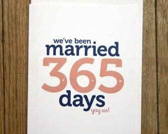 First Wedding Anniversary card - paper anniversary - digital download