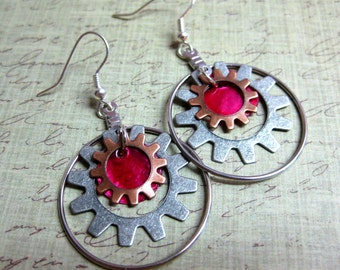 Steampunk Gears - red