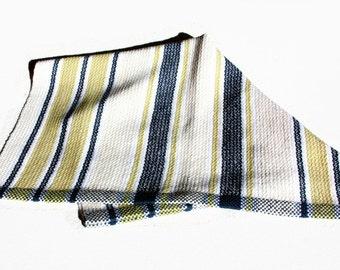 Scandinavian Dish towel Handwoven Cotton, Hand Hemmed with hanging loop dishtowel hand woven