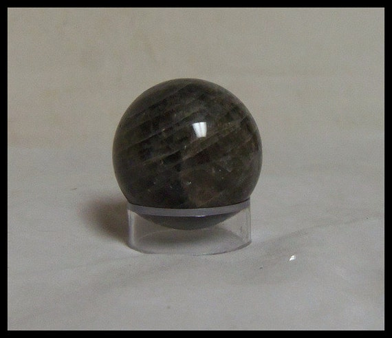 Black Moonstone 45mm Sphere Metaphysical Crystal Energy