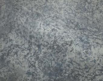 Blue Marbled Pigskin Hide Leather Piece