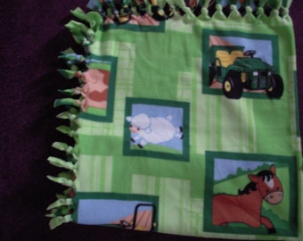 John Deere No-Sew Fleece Blanket