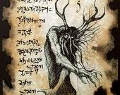 FOREST DEMON Necronomicon Fragment lovecraft occult cthulhu larp