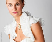 Willow | Silk Chiffon Bolero for bridal or formalwear