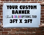 Trade show vinyl banner sign, 3 ft x 2 ft, craft show banner, custom printed banners, Parade banner, Parade Float banner, weatherproof signs