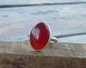 Carnelian ring,carnelian gemstone ring, sterling silver ring, Carnelian statement ring, girlfriend ring, holidays gift, gift for her,
