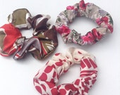 Scrunchies set shades of red