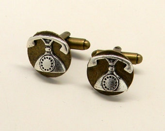 Steampunk cuff links.