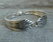 Silver Spoon Bracelet, Imperial Pattern, Silverware Jewelry