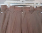Vintage 1940s 1950s Gabardine Pearl Snap Western Pants Rockabilly VLV