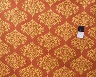 Amy Butler AB24 Midwest Modern Park Fountain Brown Cotton Fabric 1 Yard