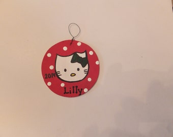 Hello Kitty Christmas Ornament - Personalized
