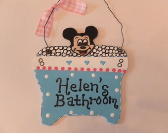 Disney Mickey Mouse Bathroom Wall Hanging - Personalized