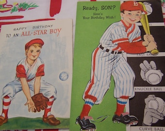 baseball boy birthday cards