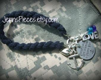 BRACELET: Every Sailors life deserves a trophy wife Navy Blue Boot Band Blouser Bracelet -SSG151 Navy usn Army Marines Air force usmc usaf