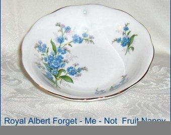 Forget-Me-Not  Royal Albert  Vintage   Bone China Nappy or Fruit Bowl  England