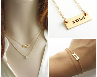 Run Monogram Engraved Necklace Runners Necklace Runner Jewelry
