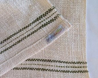 Green Stripe Tea Towel Dish Cloth
