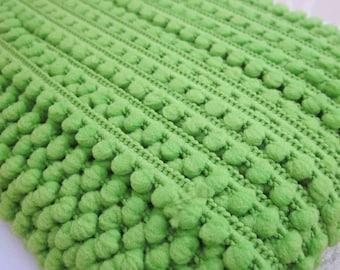 Apple Green Mini Pompom Trim