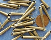 20 pcs Antiqued Bronze Spike Beads, DIY Basket Ball Wives Long Pendant Charm Beads, 34x5mm, DR420