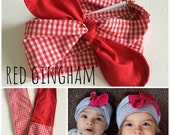 the RED GINGHAM wrap