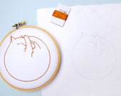 Catnap Embroidery Kit