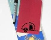 Teardrop Trailer Lined Pocket Journal, Travel Pocket Notebook, Teardrop Camper, Tear Drop, Tiny Camper, Caravan, Travel Trailer, Mileage Log