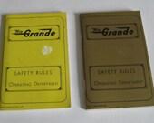 Vintage Rio Grande Railroad Safety Rules Book Booklet DRGW Set of 2 1976 1980