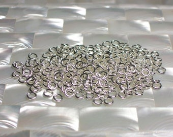 4mm 18g, OPEN rings Jump Rings High Polish Silver Plated Steel 30pcs Jewelry/Jewellery/Craft Supplies