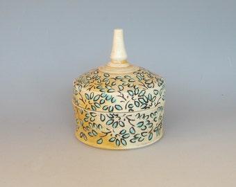 Keepsake/Treasure Box Soda Fired Handmade Pottery