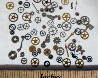 NAIL ART 40 Flat Gears and Small Watch Parts without Pinions Steampunk Nail Art Decorative