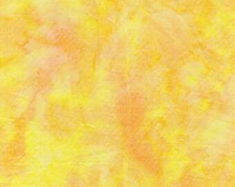 Jacqueline de Jonge Be Colourful Bright Yellow Batik Anthology Fabric 1/2 yard