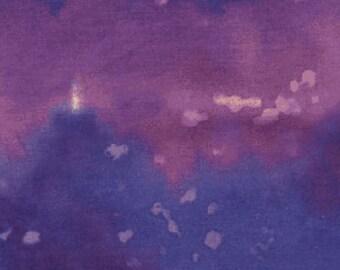 Splash Purple Rain Benartex Fabric 1 yard