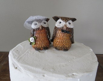 Wedding Cake Topper Owl