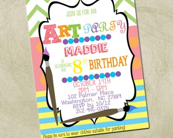 Printable-Painting/Art Party Invitation